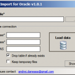 DBase DBF import to Oracle freeware tool
