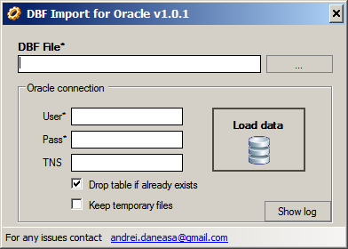 dbf to oracle import tool