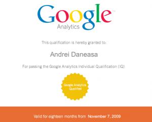 Google Analytics IQ - Andrei Daneasa