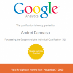 Passed Google Analytics Individual Qualification (IQ)